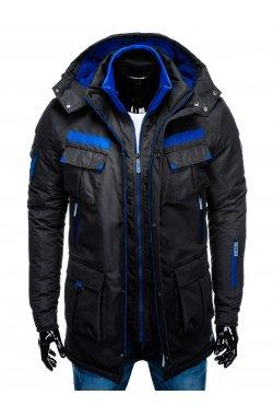 Куртка чоловіча зимова парка C379 - чорна