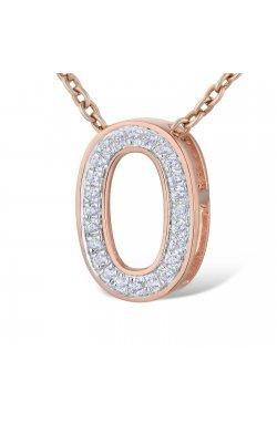 Кулон из красного золота с бриллиантами (1678427)