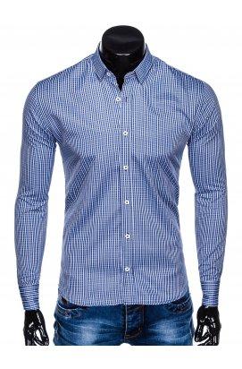 Рубашка мужская R441 - Синий/светло - голубой
