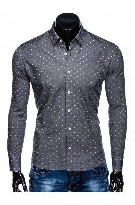 Рубашка мужская R431 - Темно- Серый