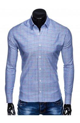 Рубашка мужская R433 - голубой