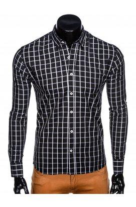 Рубашка мужская R445 - черный