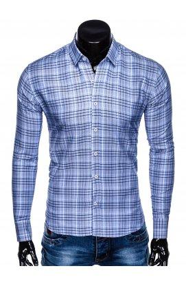 Рубашка мужская R452 - голубой