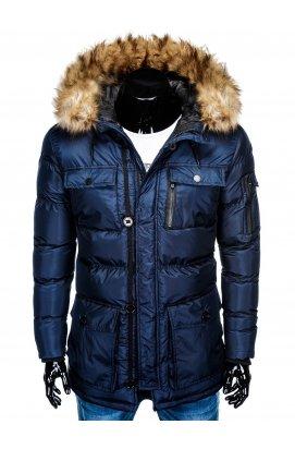 Куртка парка мужская зимняя K355 - синий