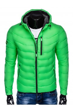 Men's winter quilted jacket C371 - green