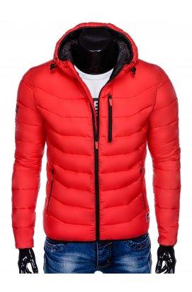 Куртка мужская стеганая K371 - красный