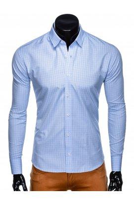Рубашка мужская R446 - светло - голубой