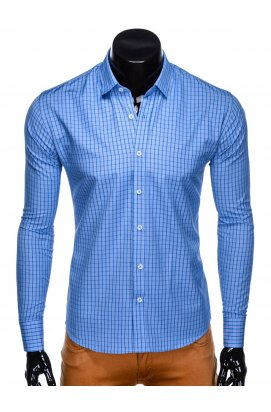 Рубашка мужская R446 - голубой