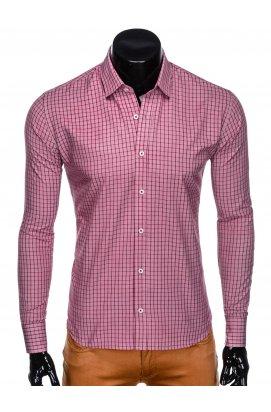 Рубашка мужская R446 - красный