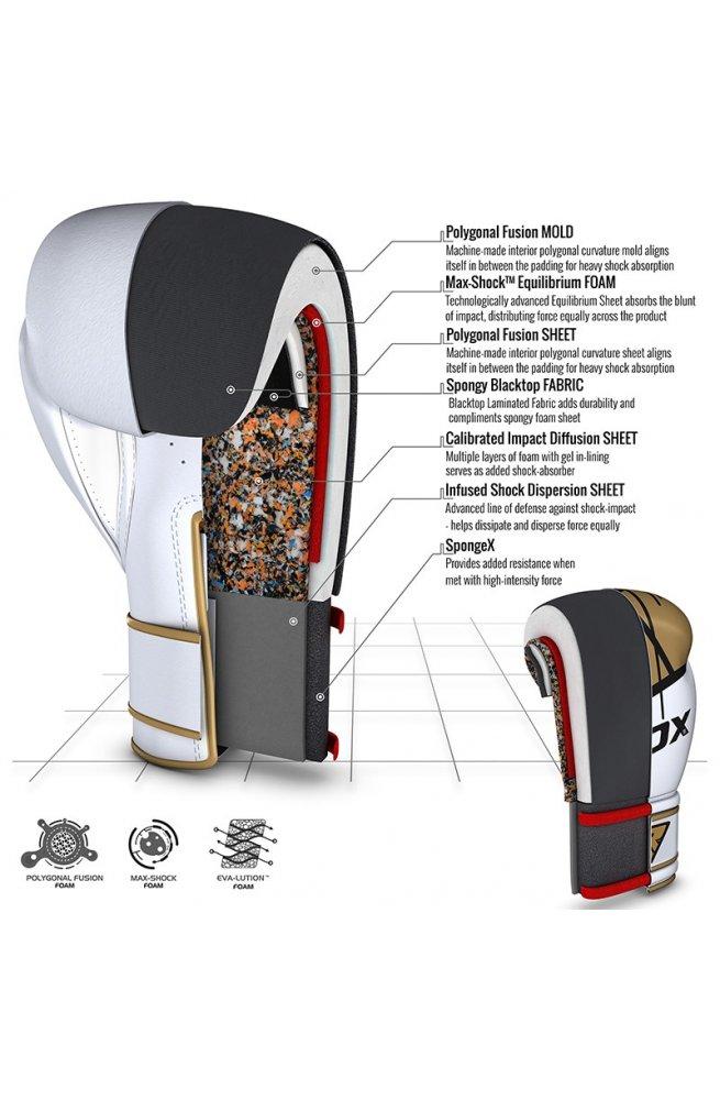 Боксерские перчатки RDX Rex Leather Gold 10 ун.