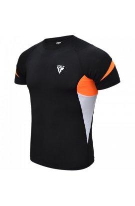 Рашгард з коротким рукавом RDX Lycra Orange M