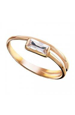 Кольцо из красного золота с куб. циркониями