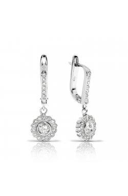 Серьги из белого золота с бриллиантами (1681462)