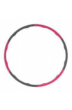 Обруч массажный Hula Hoop SportVida 100 см 1.2 кг Grey/Pink