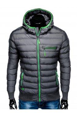 Куртка мужская демисезонная стеганая K353 - Серый