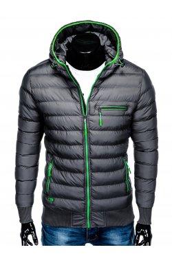 Men's autumn quilted jacket C353 - Серый