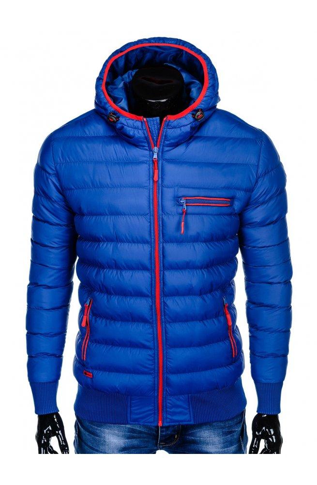 Куртка мужская стеганая K353 - голубой