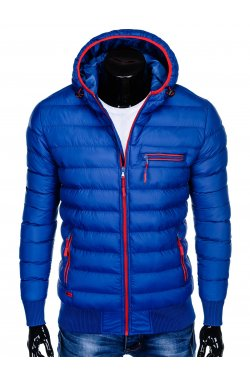 Куртка мужская демисезонная стеганая K353 - голубой