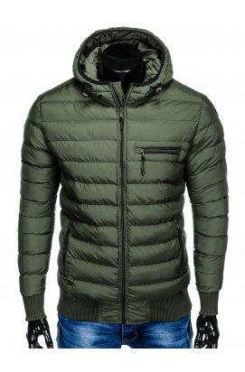 Куртка чоловіча демісезонна стьобана C353 - хакі