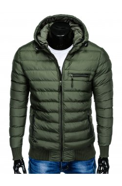 Men's autumn quilted jacket C353 - хаки