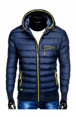 Men's autumn quilted jacket C353 - Синий