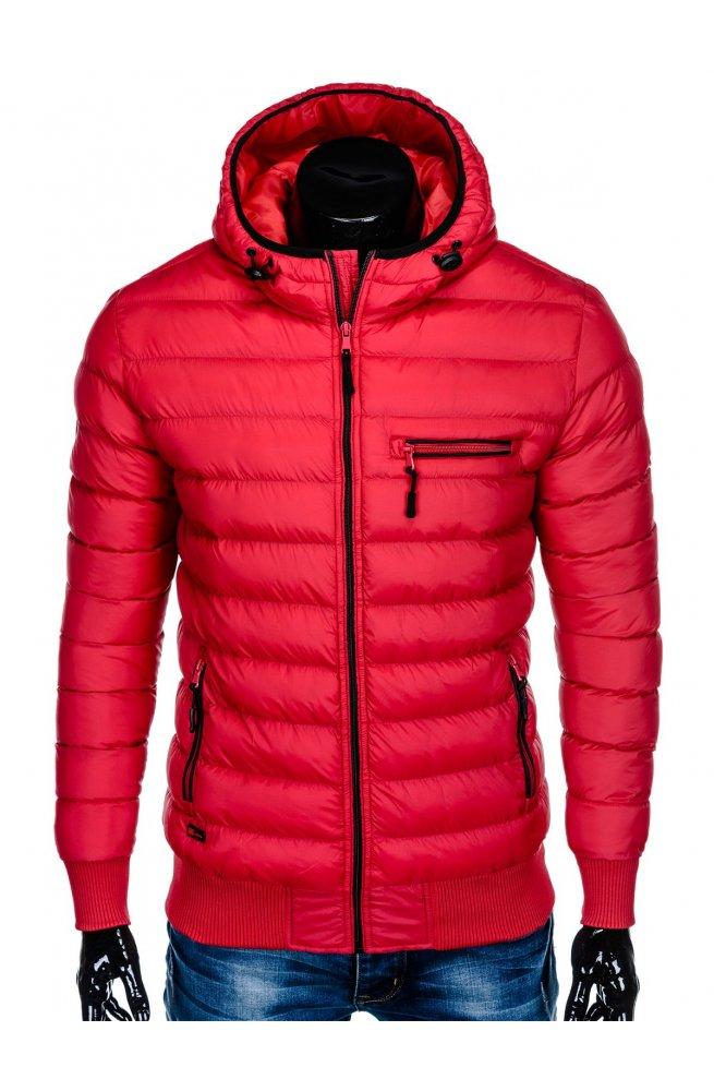 Куртка мужская стеганая K353 - красный