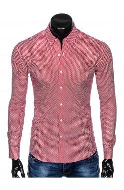 Рубашка мужская R457 - красный