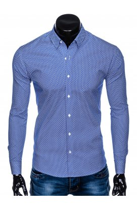 Рубашка мужская R457 - Синий
