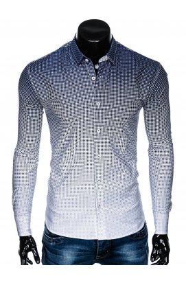 Рубашка мужская R460 - Синий