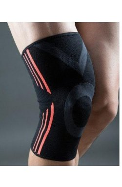 Эластический наколенник Power System Knee Support Evo PS-6021 Black/Orange