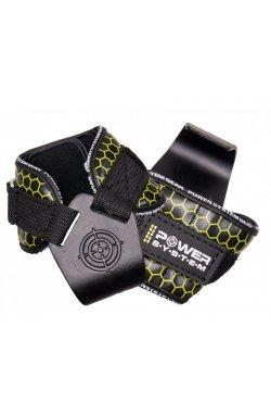 Крюки для тяги на запястья Power System Hooks V2 PS-3360 Black-Yellow XL