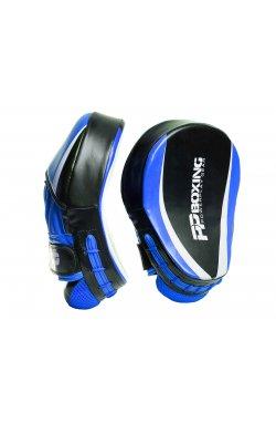 Лапы боксерские PowerPlay 3050 Чорно-Сині PU [пара]