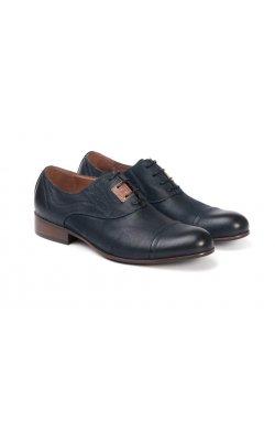 Туфли мужские. Цвет тёмно-синий.