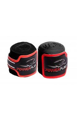 Бинты для бокса PowerPlay 3046 Чорні (4м)