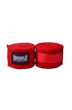 Бинты для бокса PowerPlay 3047 Червоні (4м)