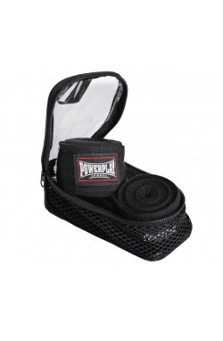 Бинты для бокса PowerPlay 3047 Чорні (4м)