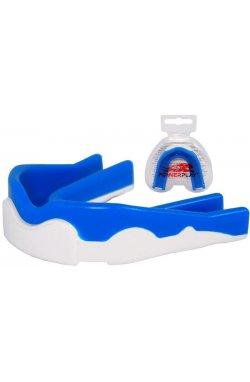 Капа боксерская PowerPlay 3303 R Синьо-Біла