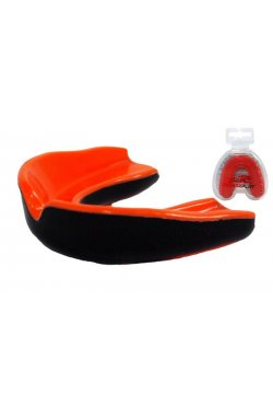 Капа боксерская PowerPlay 3315 R Оранжево-Чорна