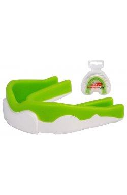 Капа боксерская PowerPlay 3302 JR Зелено-Біла