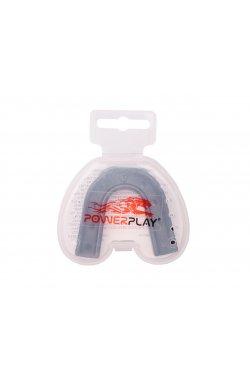 Капа боксерская PowerPlay 3303 R Чорно-Сіра