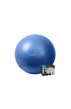 Мяч для фитнеса PowerPlay 4001 65см Синій + насос
