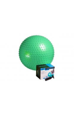 Мяч-массажер для фитнеса PowerPlay 4002 65см Зелений + насос