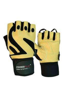Перчатки для фитнеса PowerPlay 1064 B Жовті