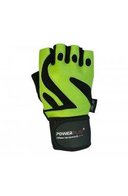Перчатки для фитнеса PowerPlay 1064 D Зелені