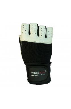 Перчатки для фитнеса PowerPlay 1069 Чорно-білі
