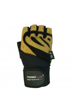 Перчатки для фитнеса PowerPlay 1063 B Чорно-жовті