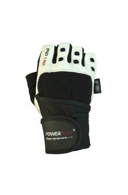 Перчатки для фитнеса PowerPlay 1096 Чорно-білі