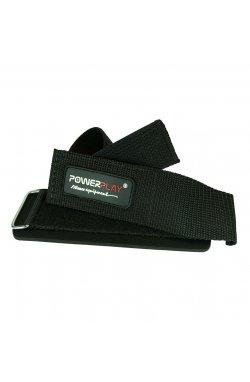 Лямки для тяги PowerPlay 7052 з валиком Чорні