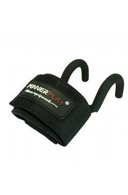 Крюки для тяги на запястья PowerPlay 7060 Чорні
