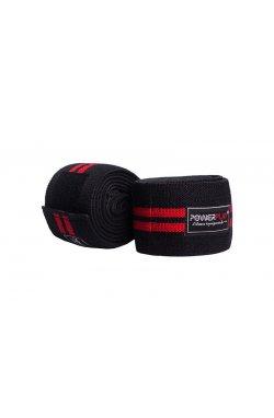Бинты для колен PowerPlay 2509 Чорно-Червоні